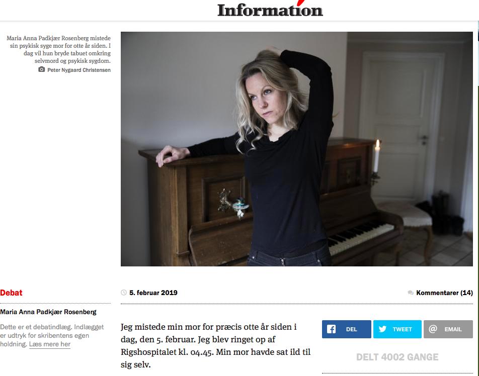 Maria Anna Padkjær Rosenberg dagbladet information
